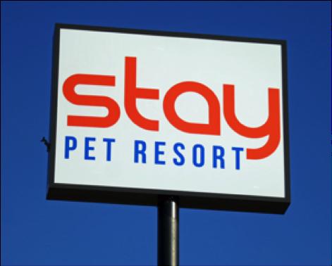 Stay Pet Resort Sign