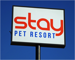 Stay Pet Resort Sign