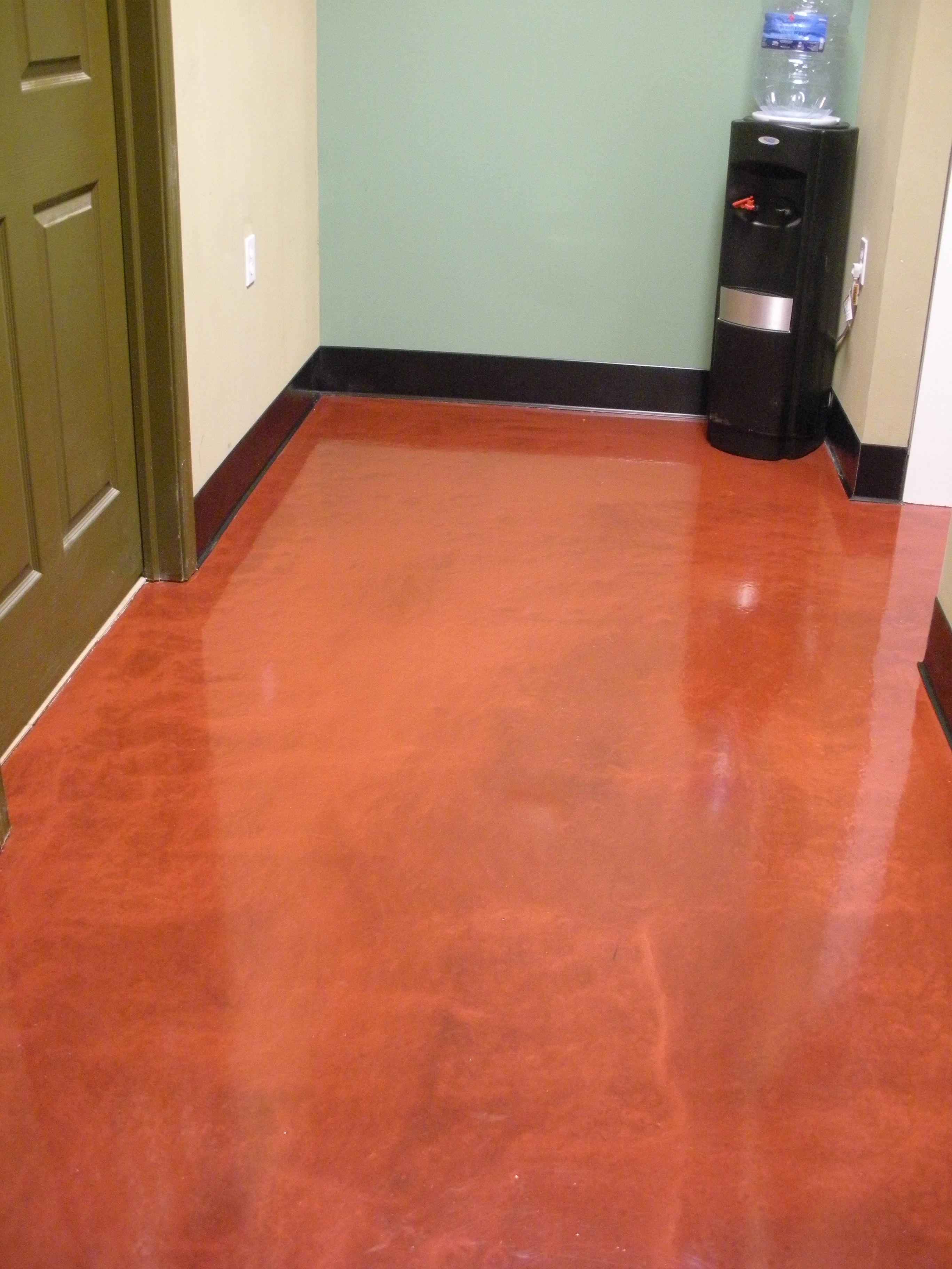 Metallic epoxy concrete floor coating