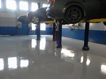 Commercial Floor Coatings Reasons To Epoxy Coat Your Service Bays - Mechanic shop flooring