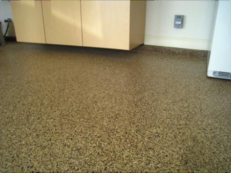 three layer garage floor coating