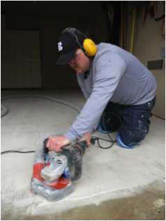 Professional garage floor coating installation