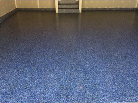 Commercial floor decrotive chip epoxy
