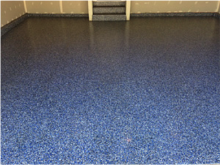 Commercial floor decrotive chip epoxy