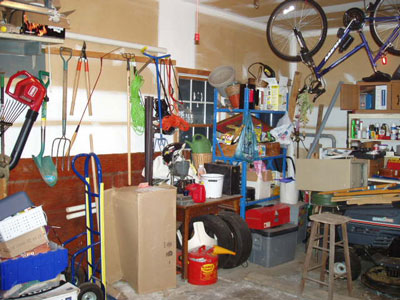 Before the garage makeover or epoxy floor coatings.