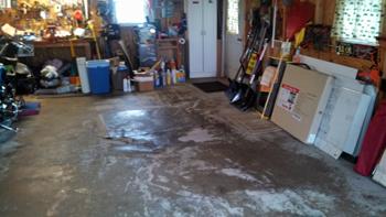 Messy garage in Harrisburg, Pennsylvania